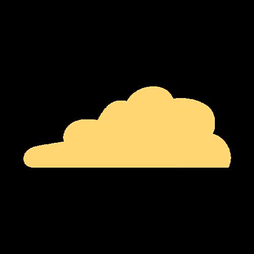夕阳云朵矢量图