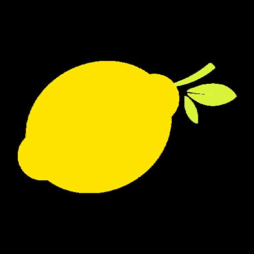 卡通柠檬素材