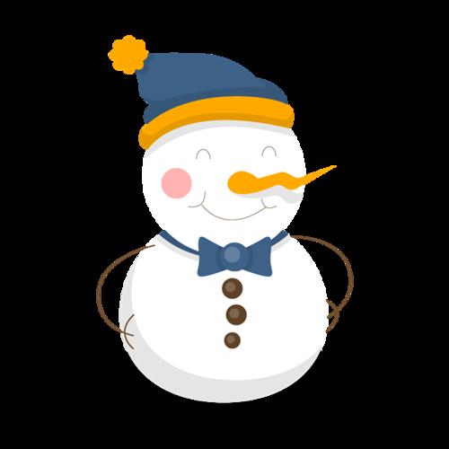 戴帽子的雪人