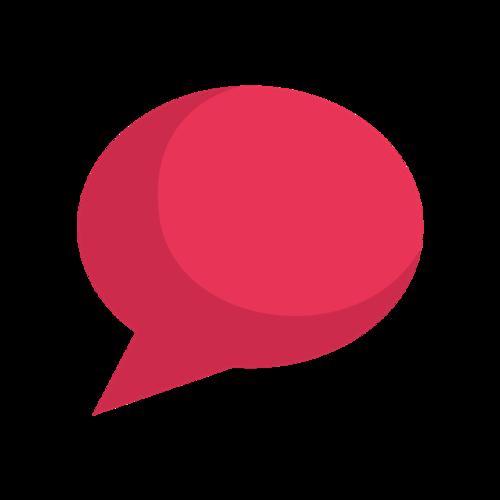 红色聊天气泡框矢量图