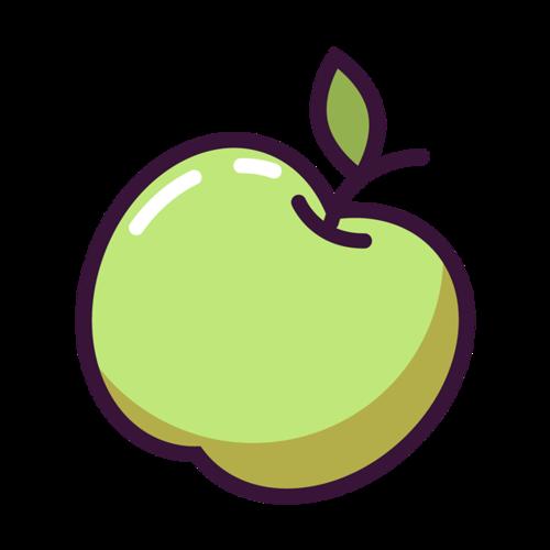青苹果卡通矢量图