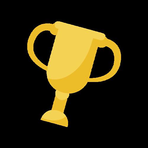 冠军奖杯矢量图