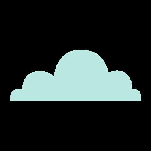 蓝色云朵矢量图