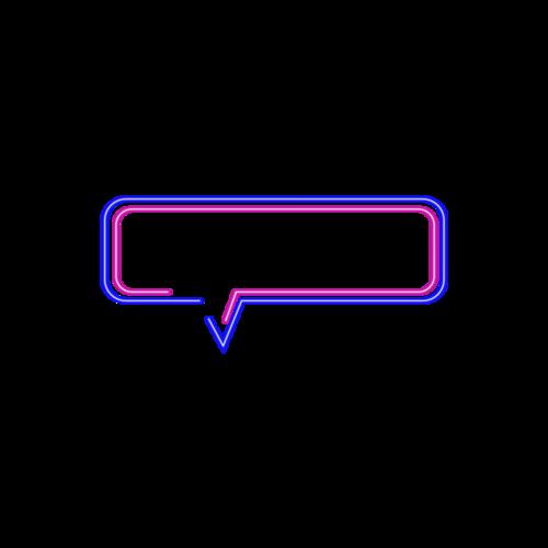彩色霓虹对话框