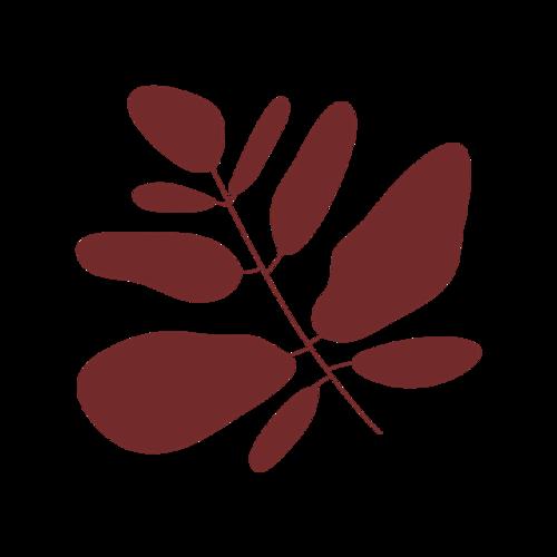咖啡色树叶矢量图