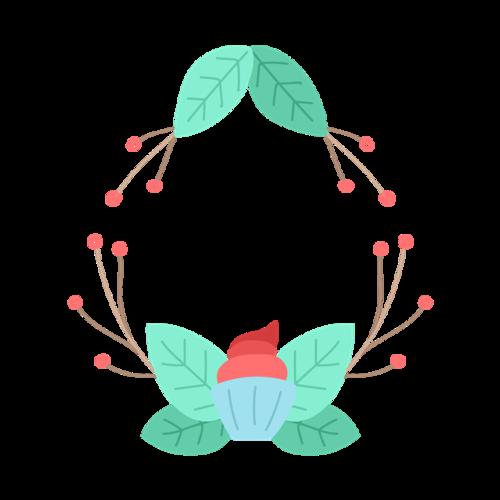 创意花卉边框