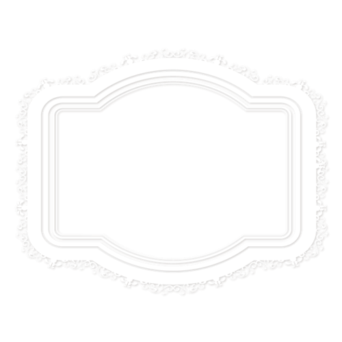 白色花纹边框元素