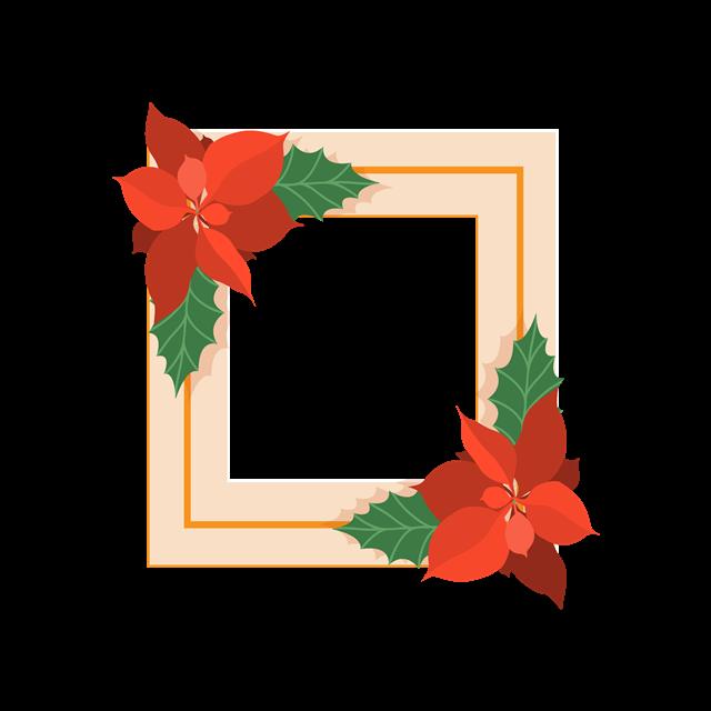 花卉元素边框