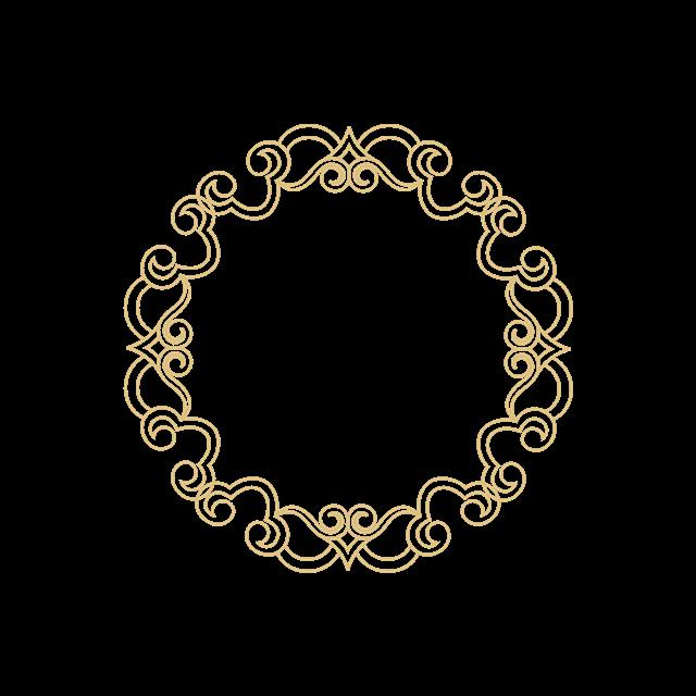 圆形花纹边框元素