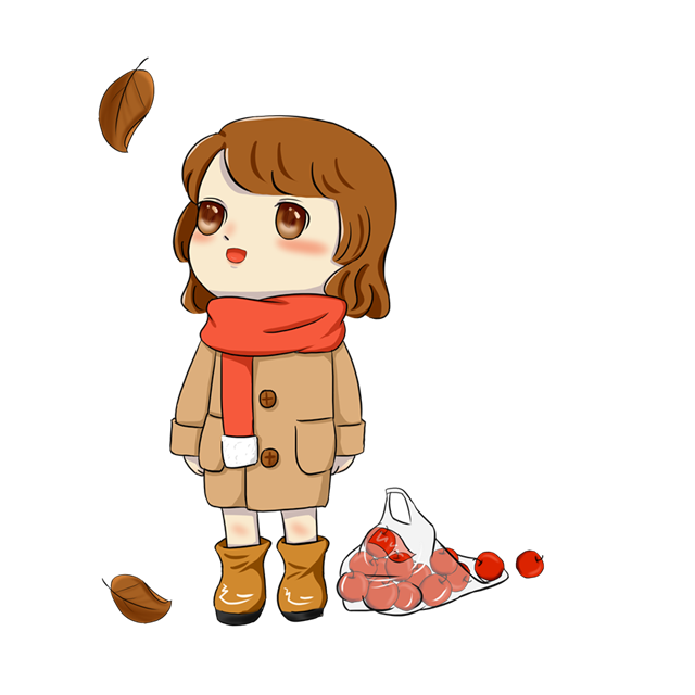 秋天落叶人物风景图片