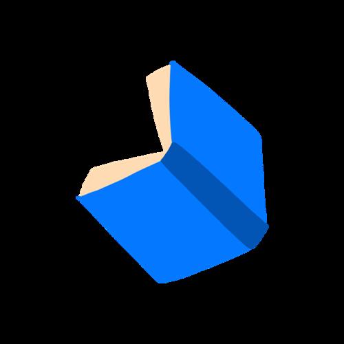 蓝色书本矢量图