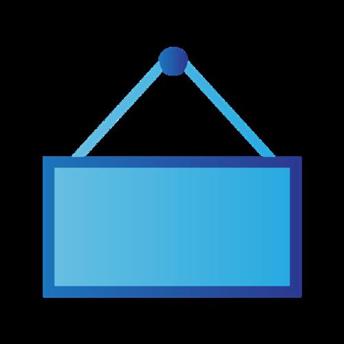 蓝色手提包矢量图