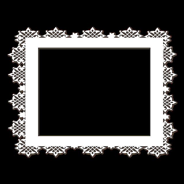 蕾丝边框装饰