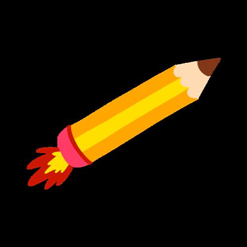 卡通学习铅笔矢量图