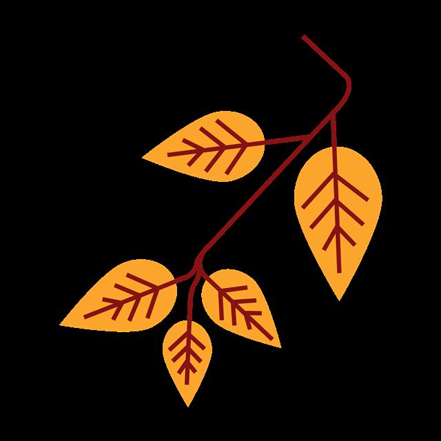 黄色纹理树叶图片