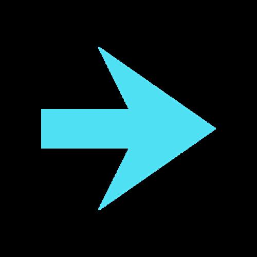 蓝色箭头标志矢量图