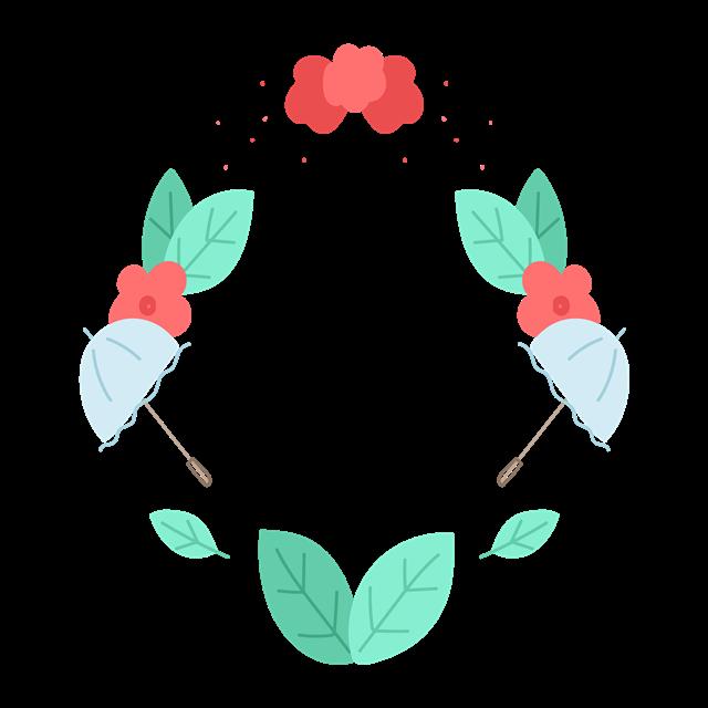 手绘花环边框