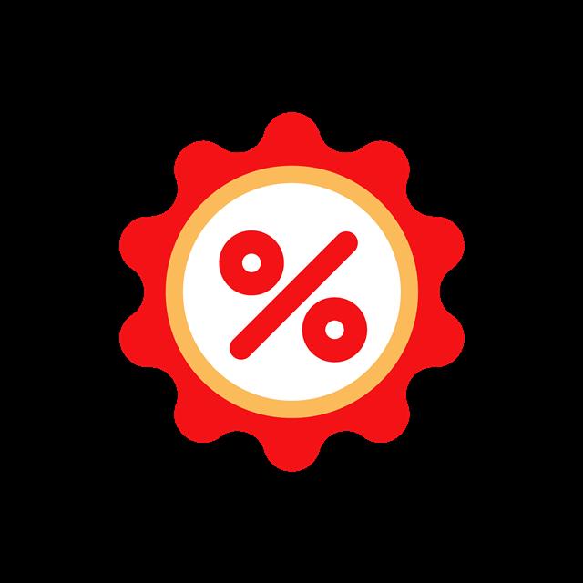 红色创意齿轮矢量图