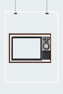复古电视机边框元素
