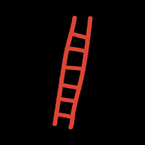 卡通梯子矢量图