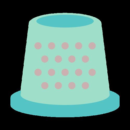 手工卡通帽子矢量图