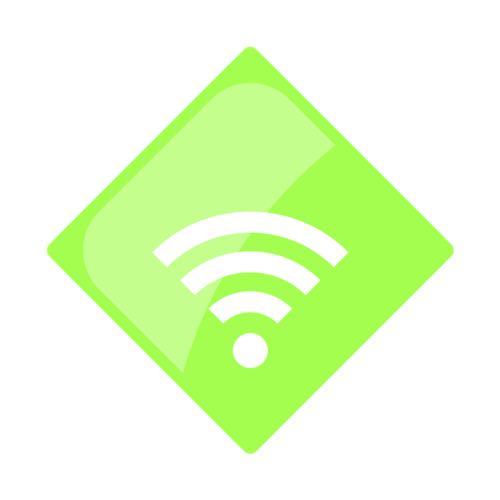 小清新WIFI标志矢量图