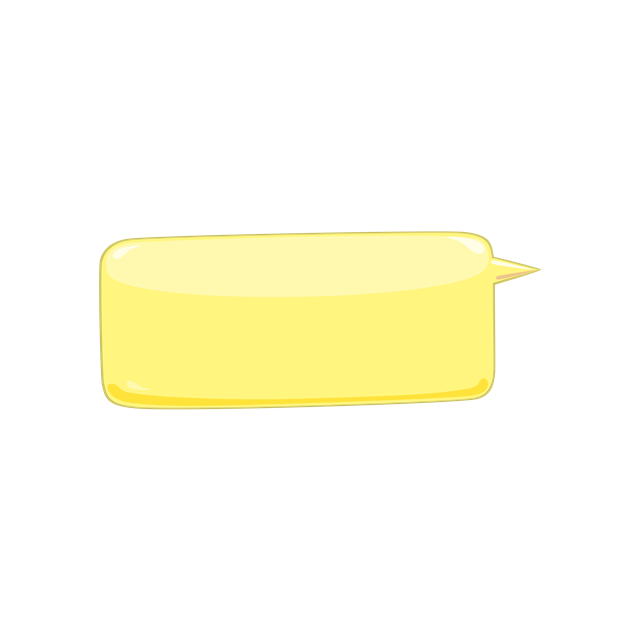 黄色标题框矢量图