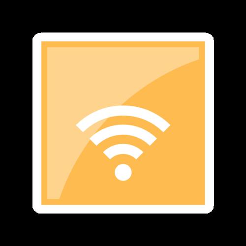 免费无线网标志矢量图