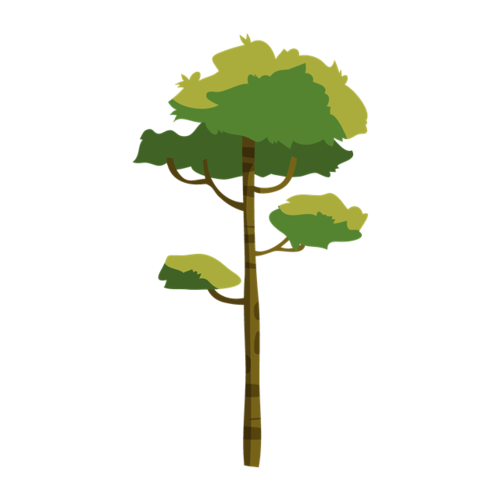 简约绿色树木图片