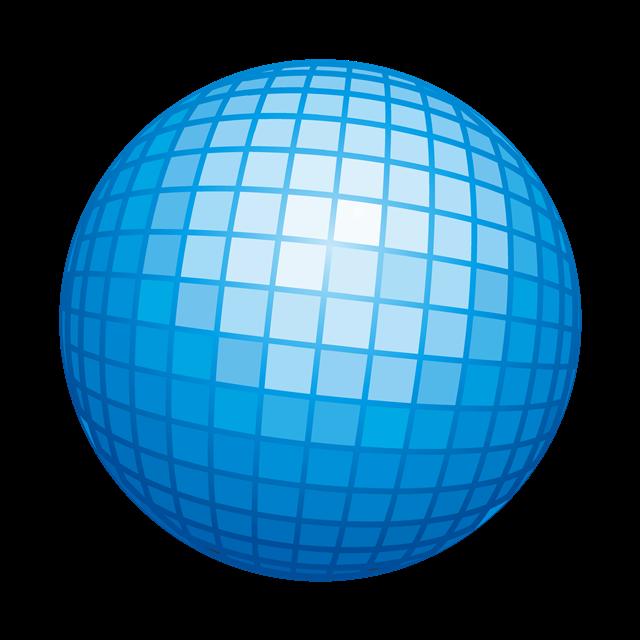 蓝色球矢量图