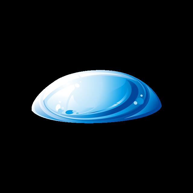 蓝色水滴形状