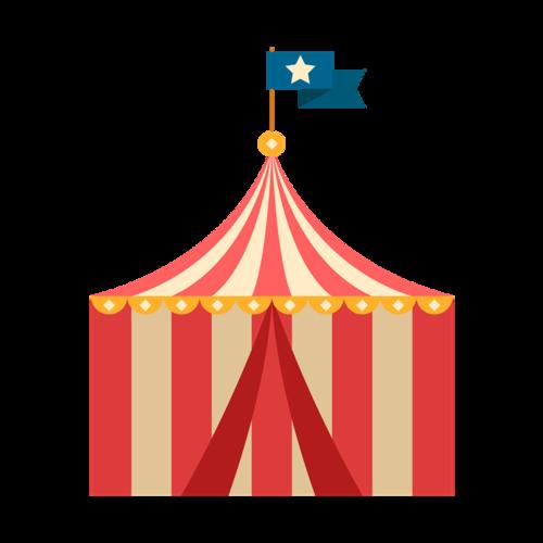 马戏团插画图片