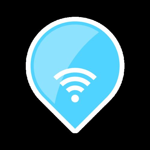 气泡形无线网标志图片