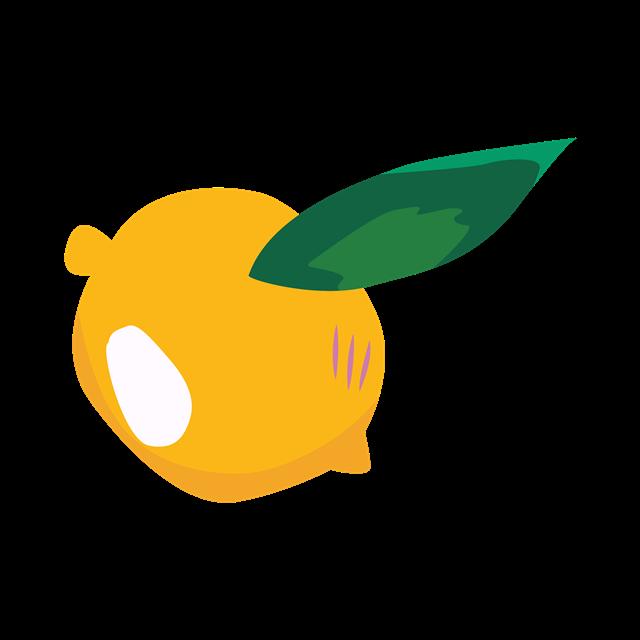 柠檬绿叶矢量图