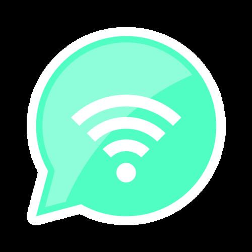 圆形气泡wifi图标