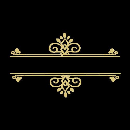 金色花边素材