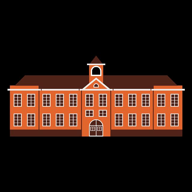 卡通教学楼图片