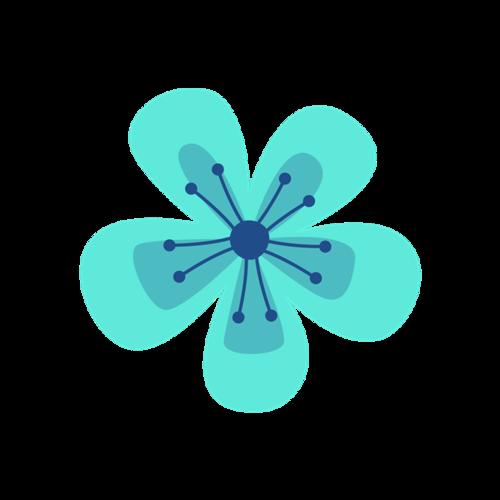 手绘抽象花朵