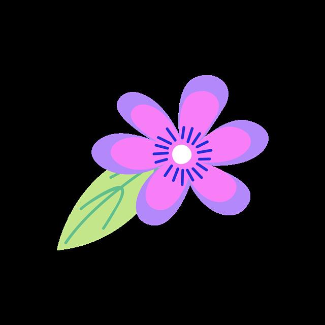 紫色花朵矢量图