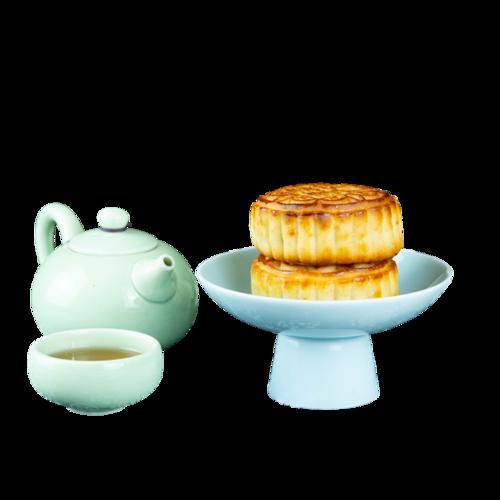 传统茶和月饼图片