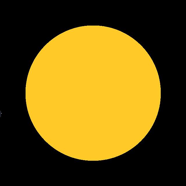 黄色圆形球体矢量图