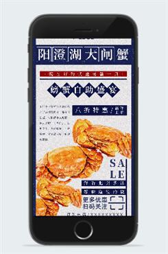 阳澄湖大闸蟹促销图片