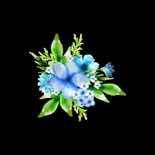 装饰花簇矢量图