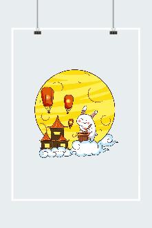 可爱玉兔创意插画