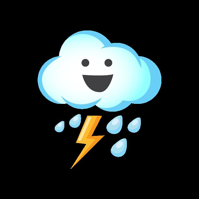 卡通雷雨云朵图片