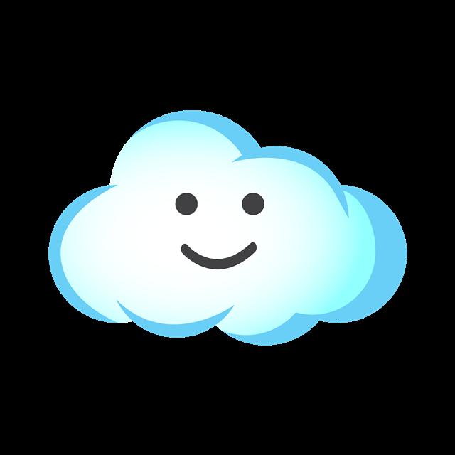 蓝色多云矢量图