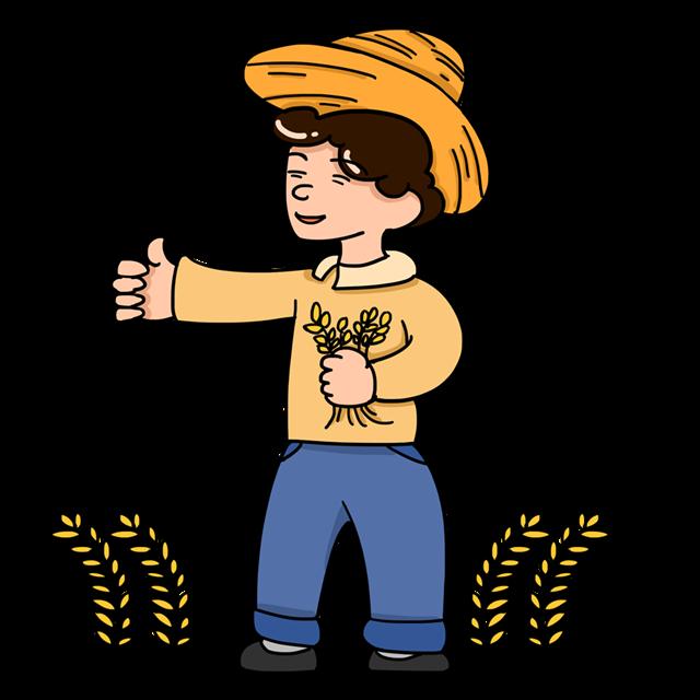 农民丰收插画图片