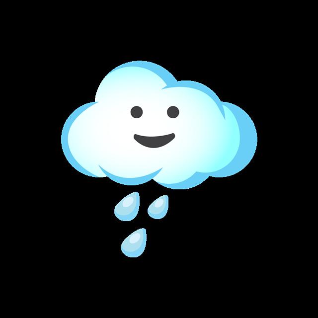 卡通雨天云朵图片