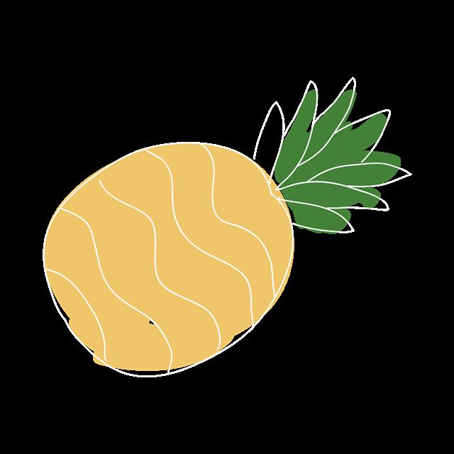 菠萝卡通画