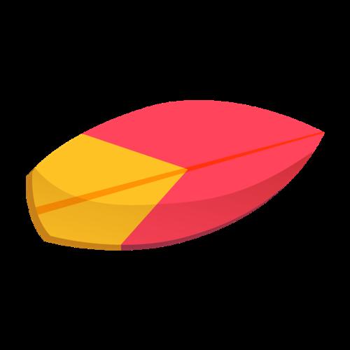 彩绘冲浪板矢量图
